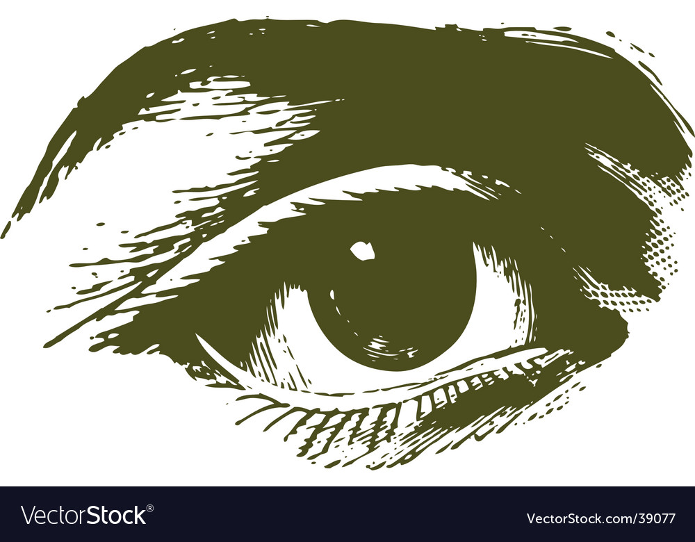 Eye sketch vector | Price: 1 Credit (USD $1)