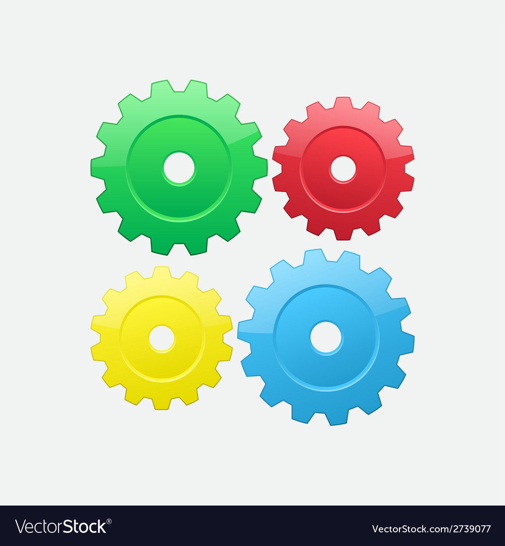 Four gears vector | Price: 1 Credit (USD $1)