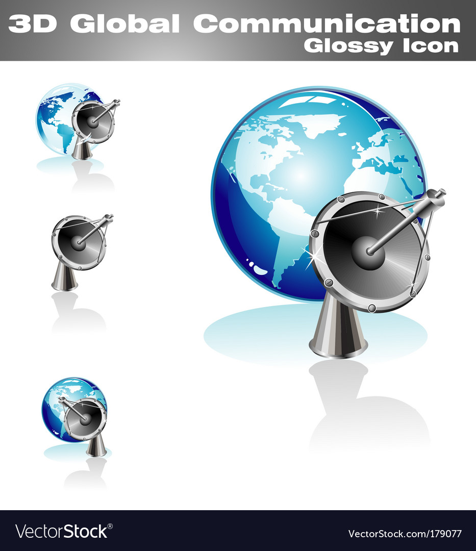Global communication icon vector | Price: 3 Credit (USD $3)