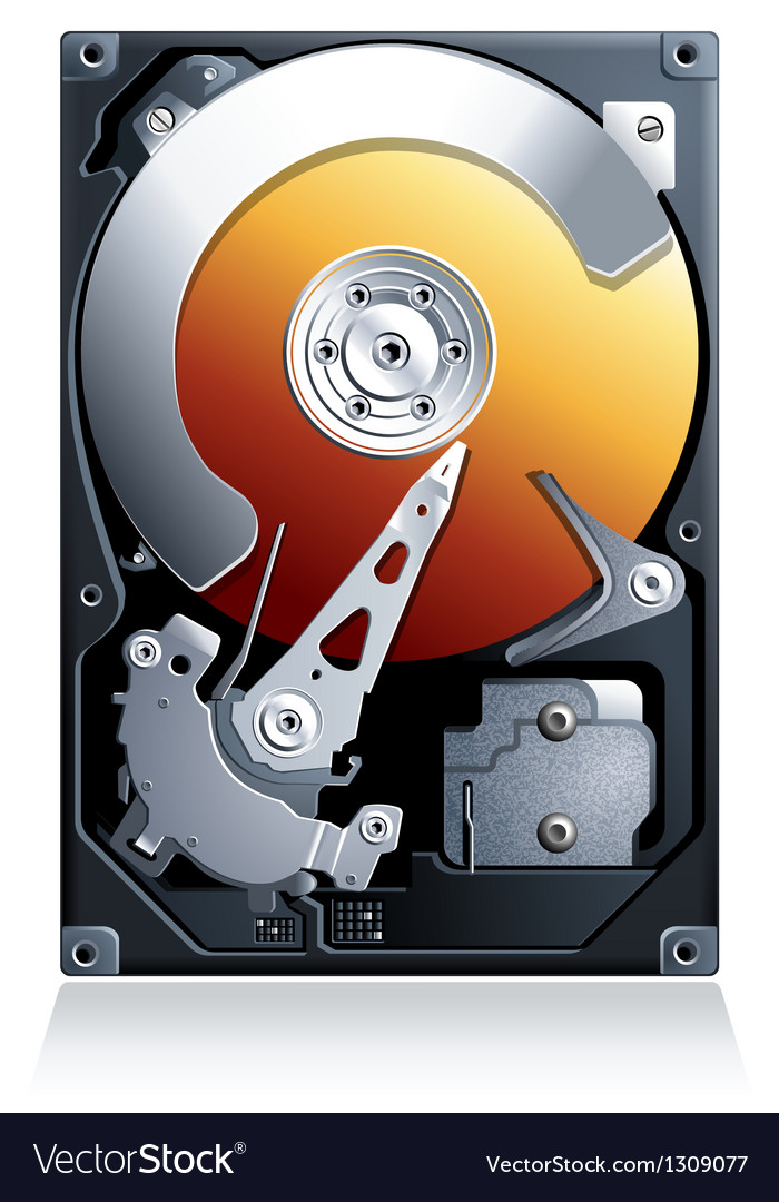 Hard disk drive hdd vector | Price: 3 Credit (USD $3)