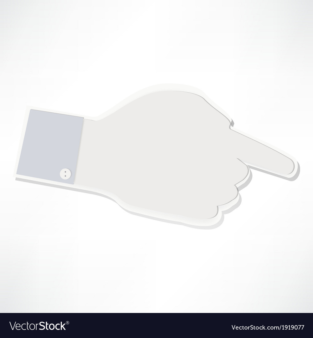 Index finger vector | Price: 1 Credit (USD $1)
