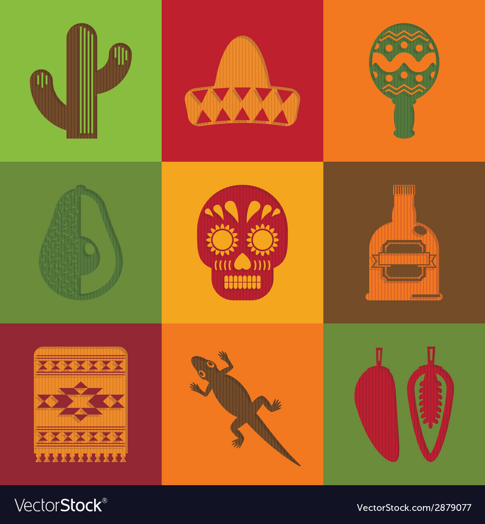 Mexican squares vector | Price: 1 Credit (USD $1)