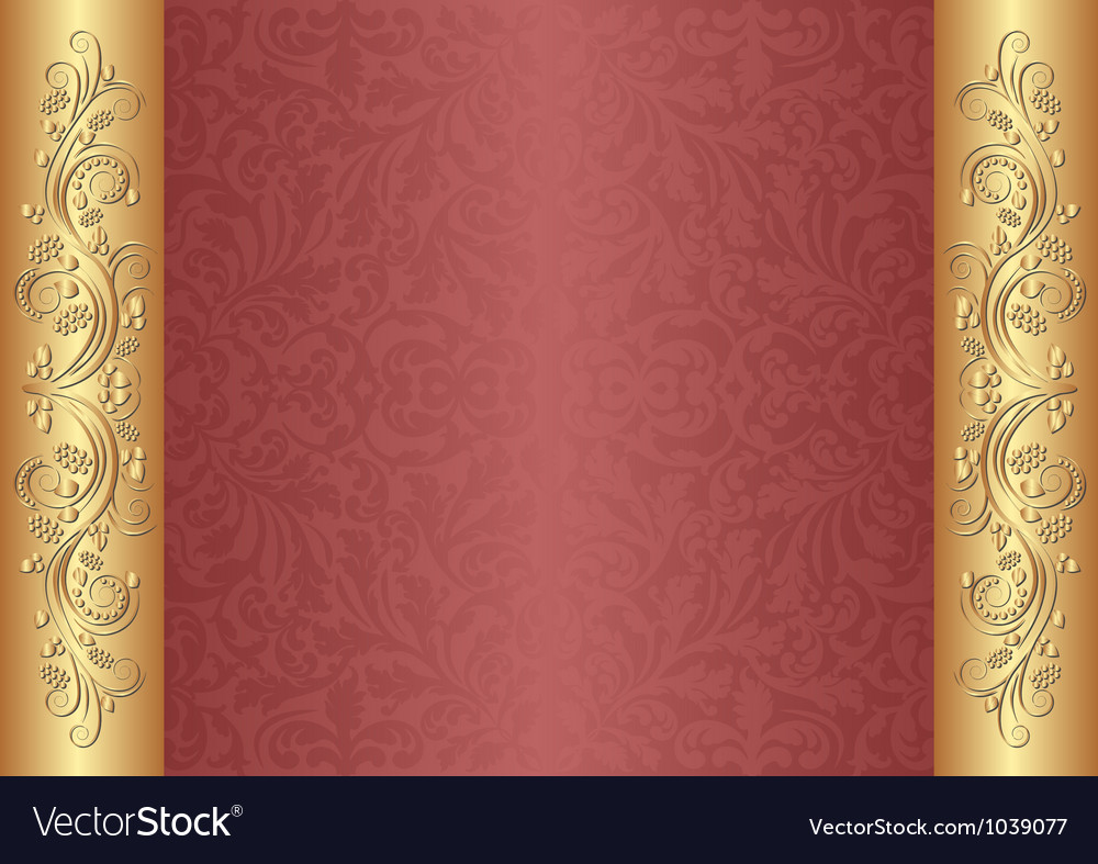 Red and gold background vector | Price: 1 Credit (USD $1)