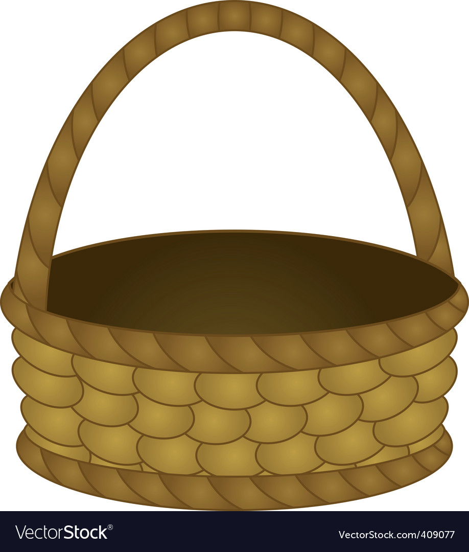 Wattled basket vector | Price: 1 Credit (USD $1)