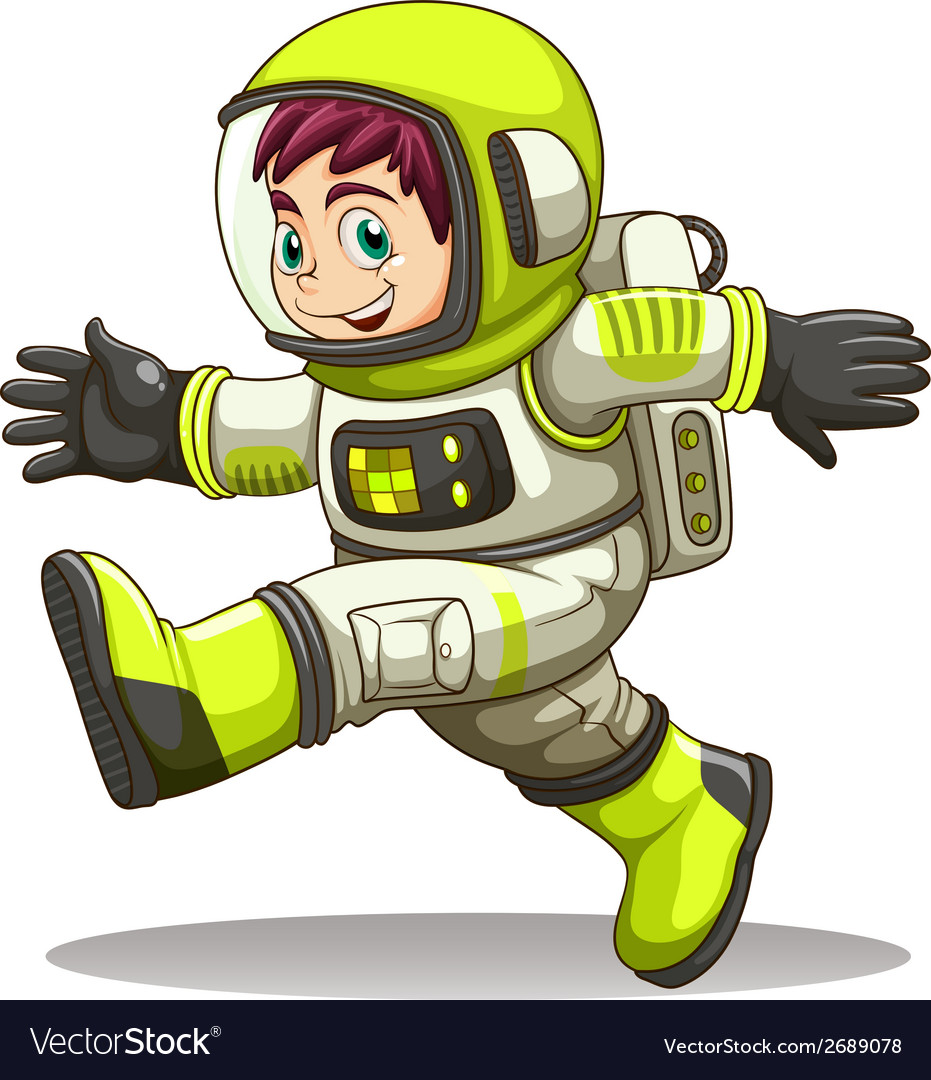 A happy astronaut vector | Price: 3 Credit (USD $3)