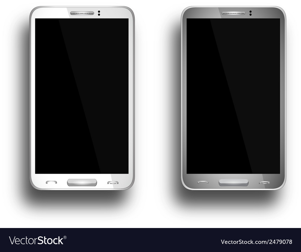 A mobile phones grey and white eps10 vector | Price: 1 Credit (USD $1)