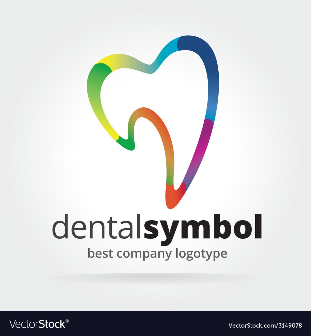 Abstract dantist tooth logotype isolated on white vector   Price: 1 Credit (USD $1)