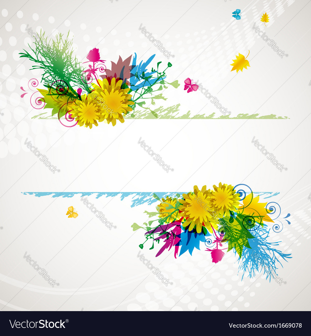 Abstract flora background 2 vector | Price: 1 Credit (USD $1)