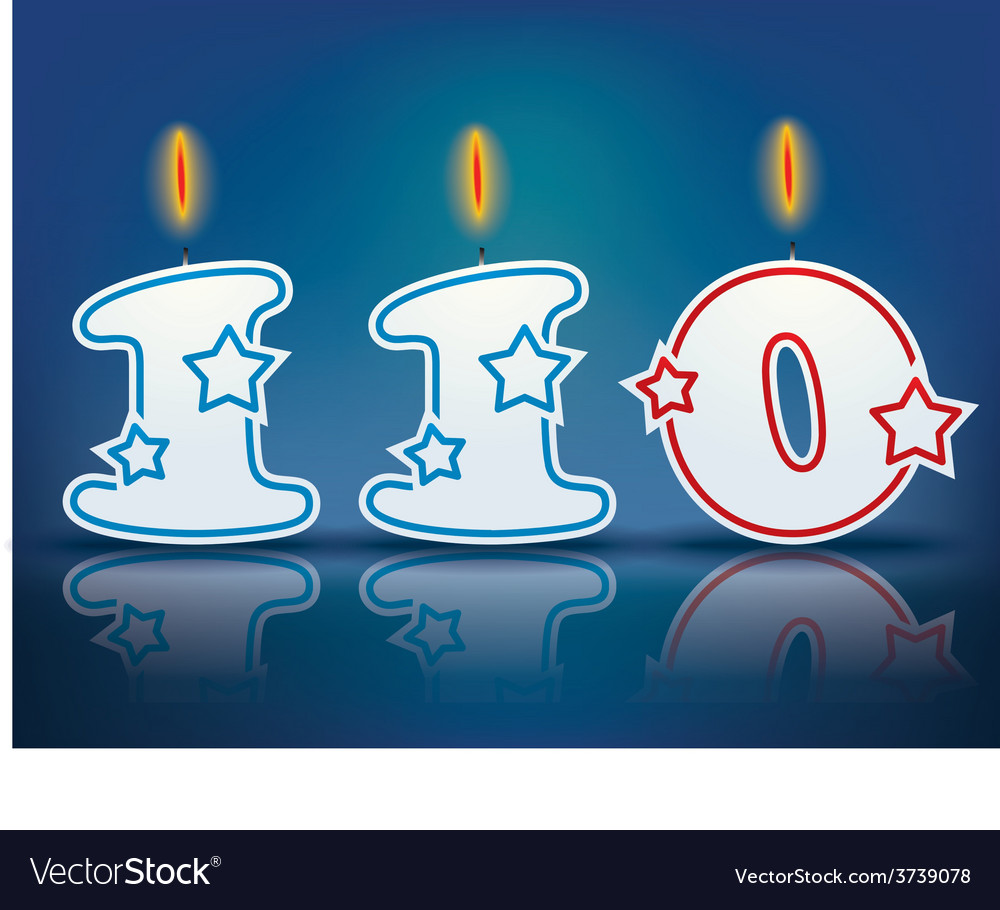 Birthday candle number 110 vector | Price: 1 Credit (USD $1)