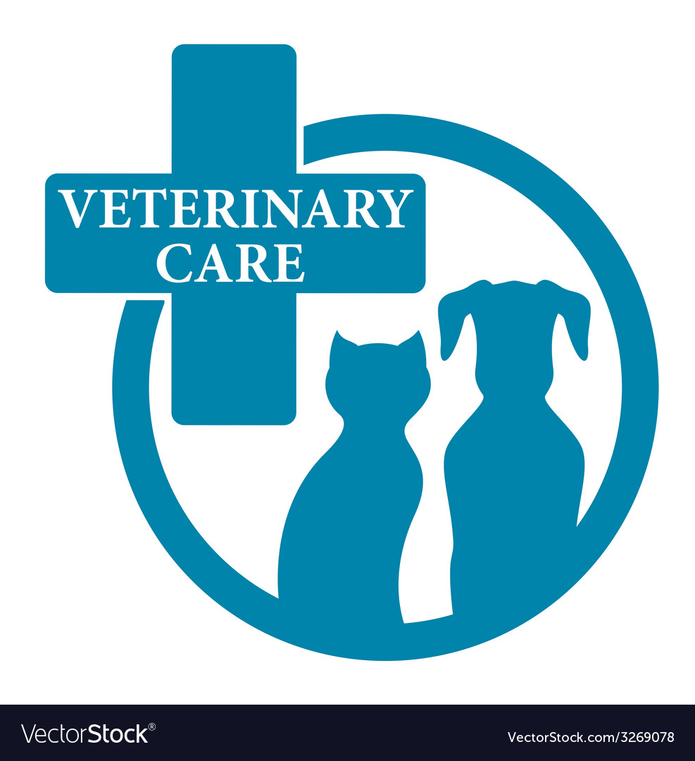 Blue medical veterinary sign vector | Price: 1 Credit (USD $1)