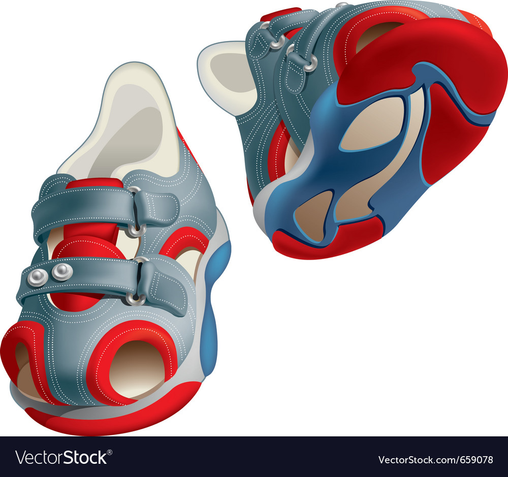 Childrens shoes vector | Price: 3 Credit (USD $3)