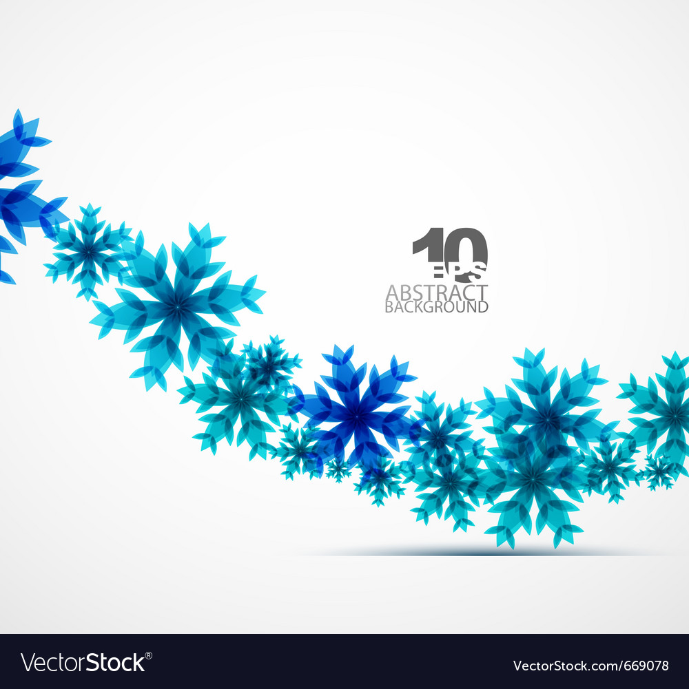 Christmas snowflake background vector | Price: 1 Credit (USD $1)