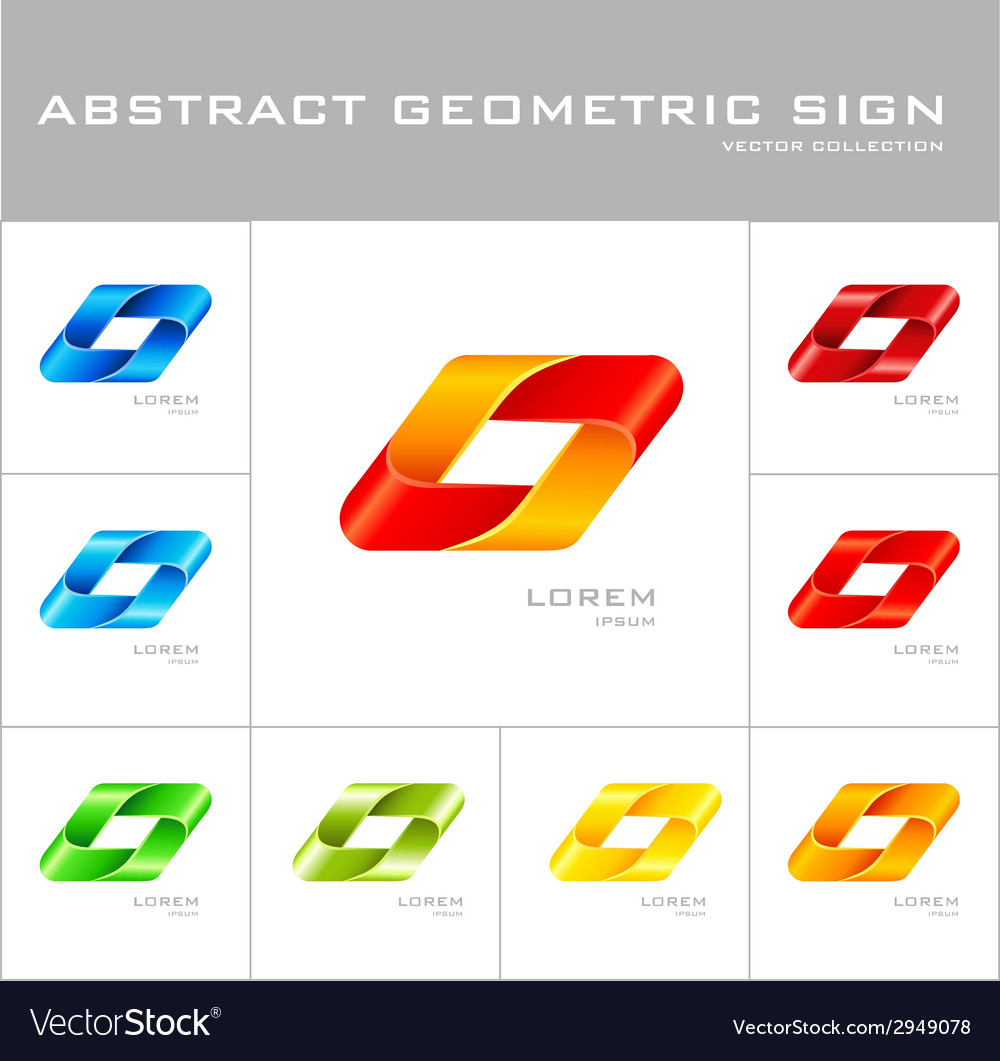 Geometrical sign logo design template vector | Price: 1 Credit (USD $1)
