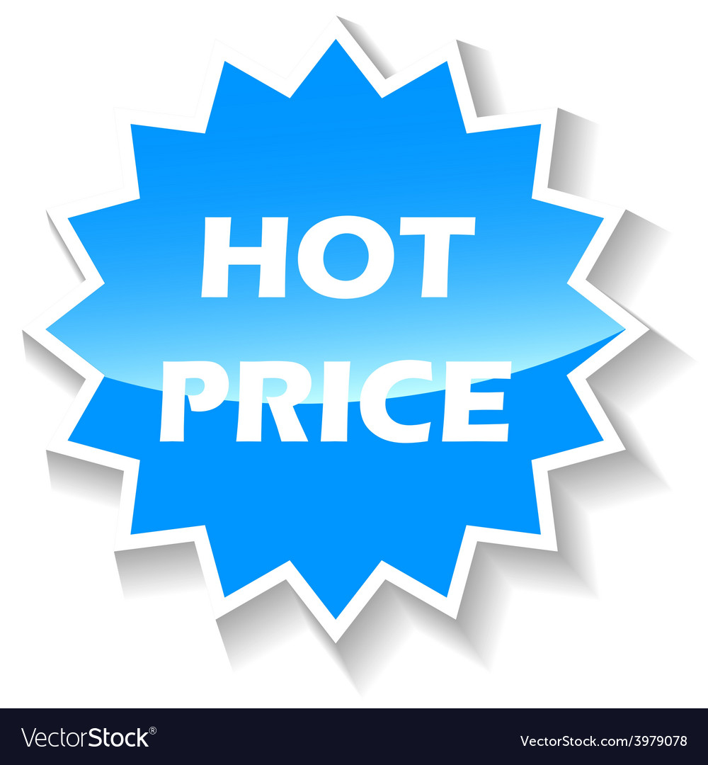 Hot price blue icon vector | Price: 1 Credit (USD $1)