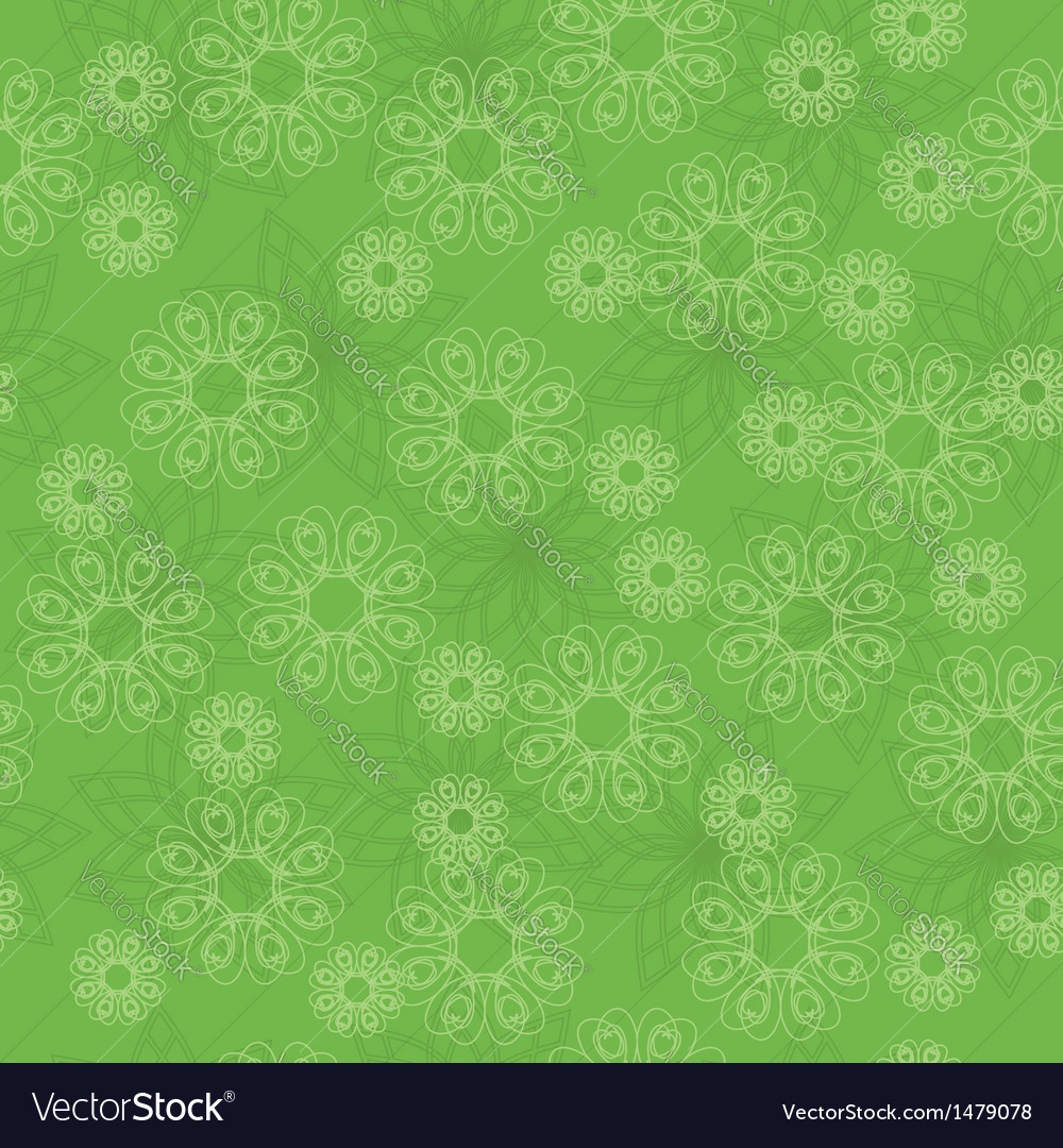 Light green geometric texture with flowers vector | Price: 1 Credit (USD $1)