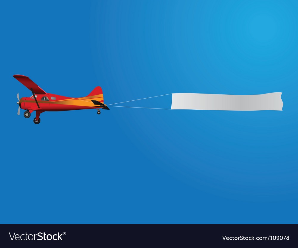 Plane with banner vector | Price: 1 Credit (USD $1)