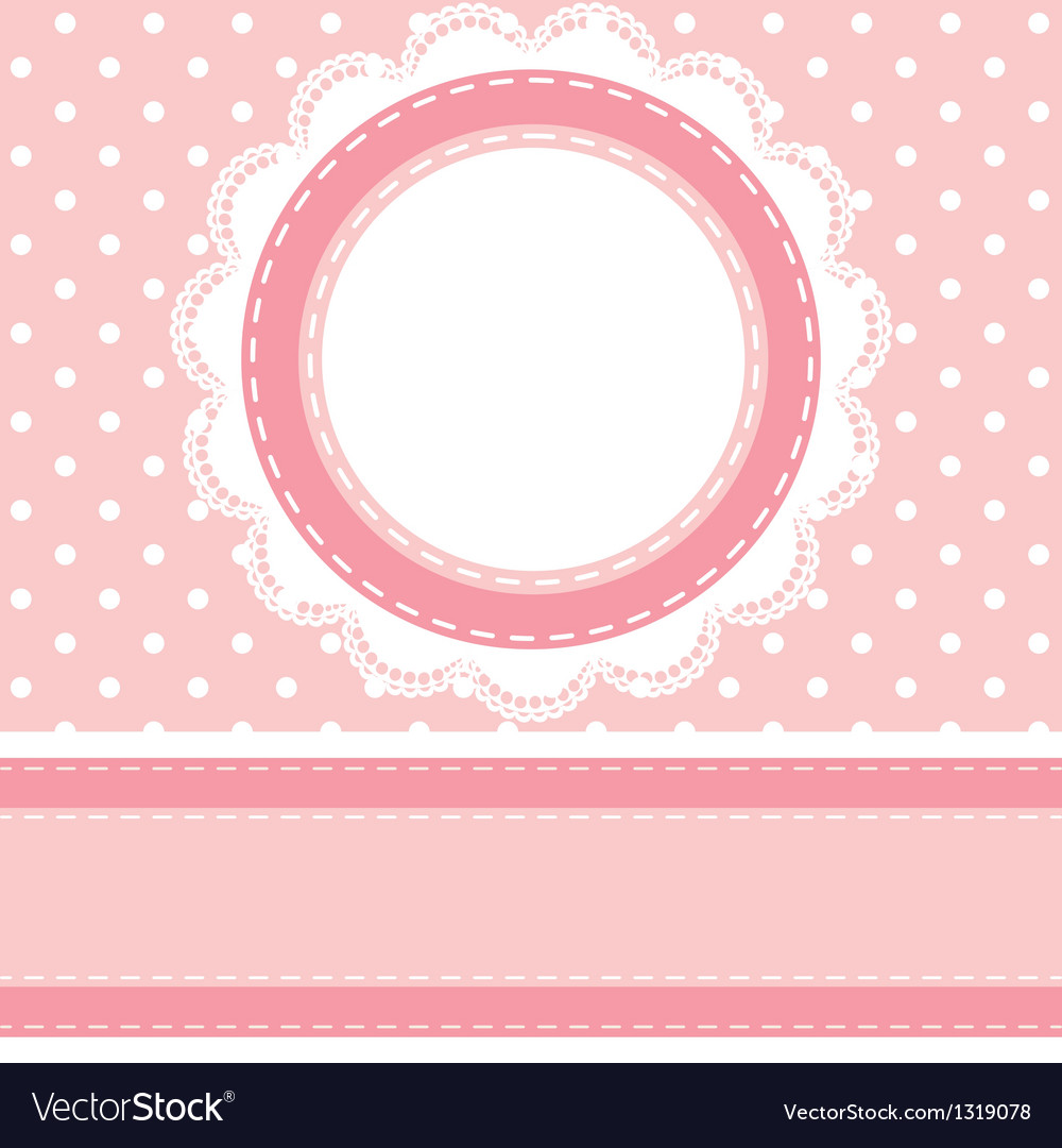 Polka dot background with lace napkin vector | Price: 1 Credit (USD $1)