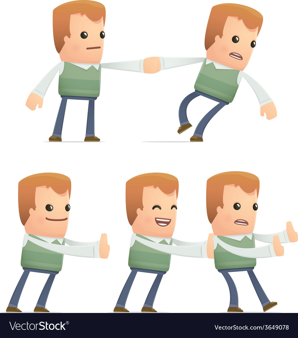 Set of neighbor character in different poses vector | Price: 3 Credit (USD $3)