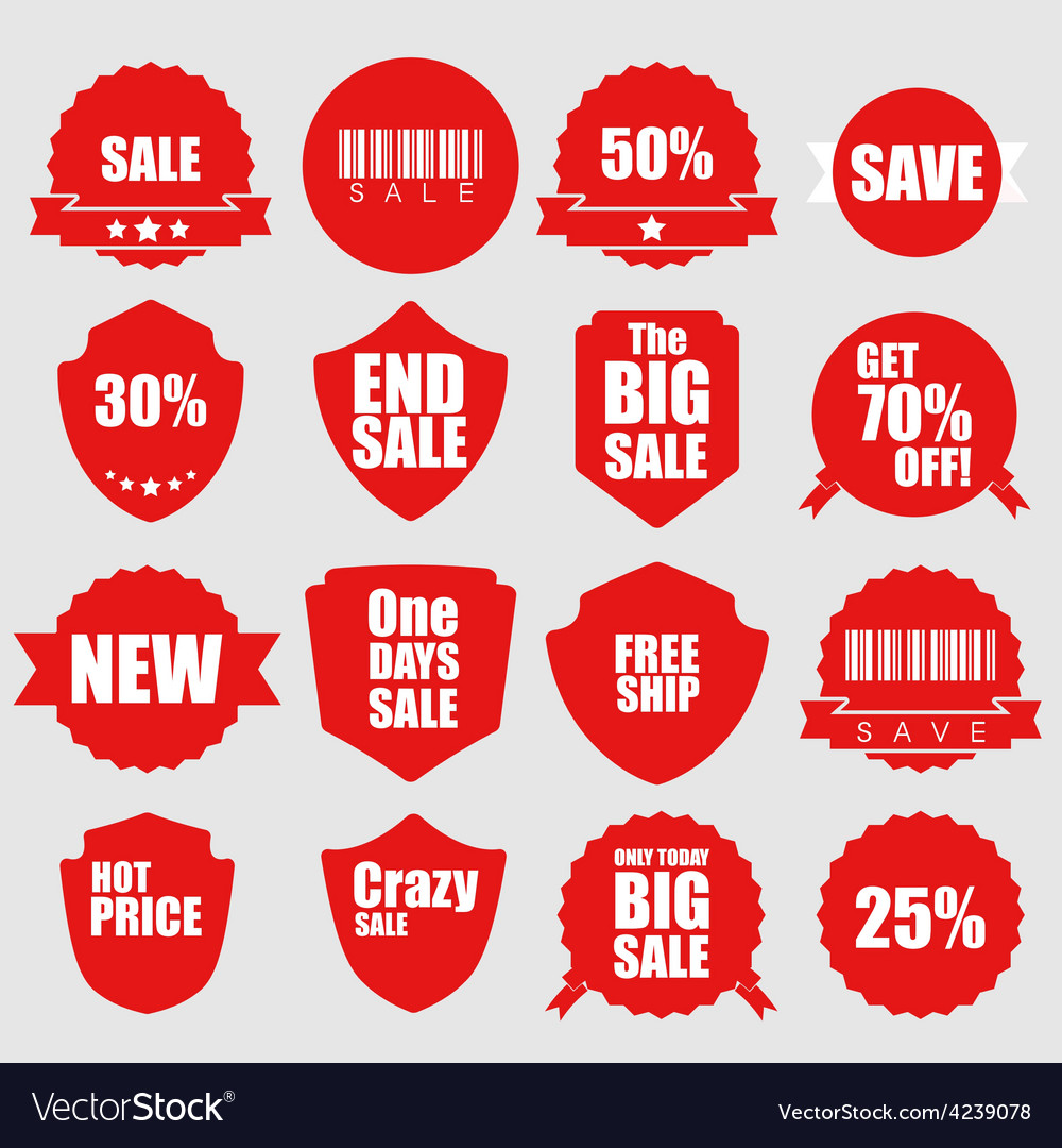 Set of sale icons design elements vector | Price: 1 Credit (USD $1)