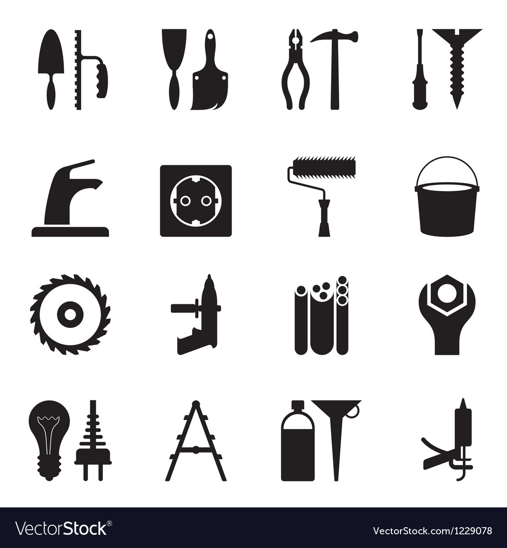 Tools and equipment for construction vector | Price: 1 Credit (USD $1)