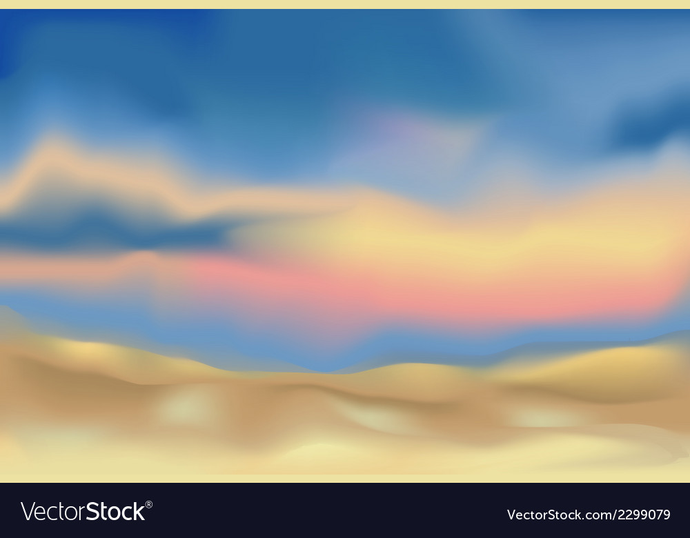 Abstract landscape background vector | Price: 1 Credit (USD $1)