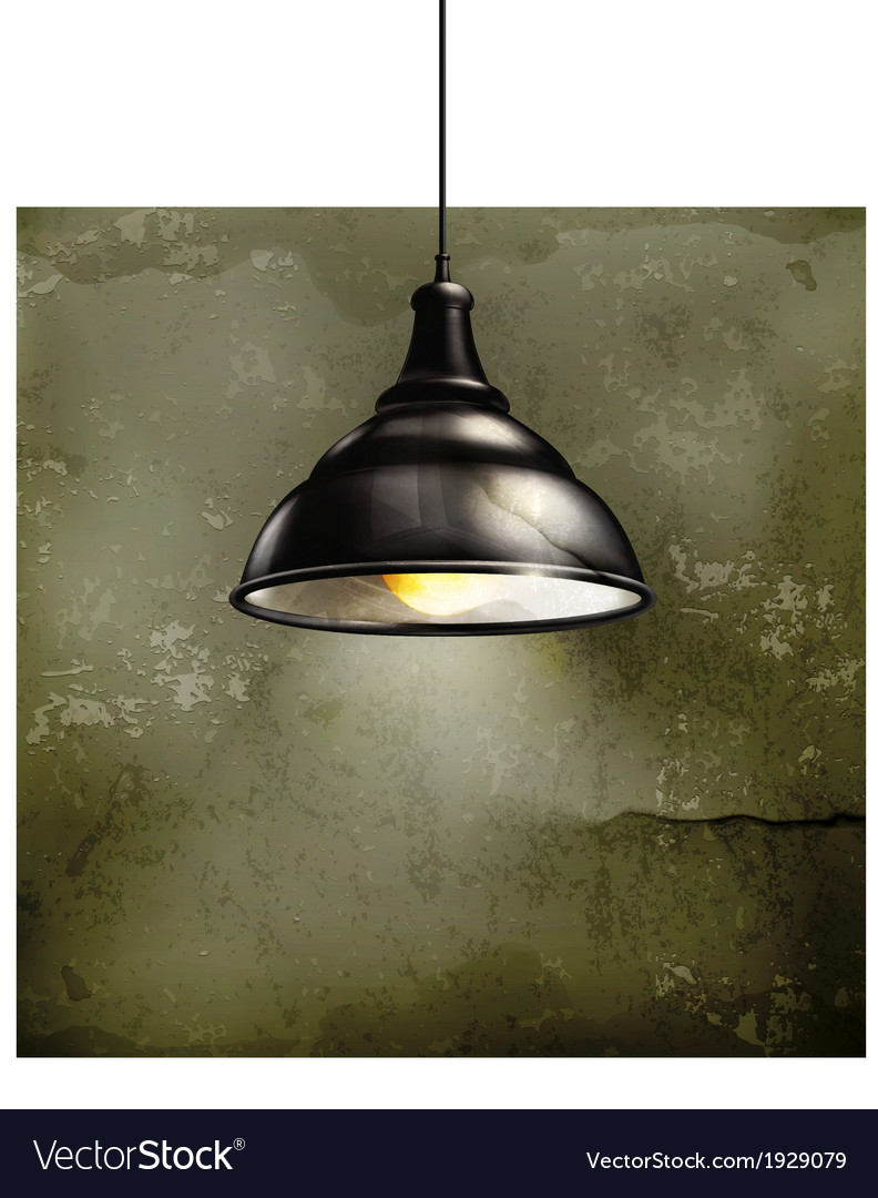 Black lamp old-style vector | Price: 1 Credit (USD $1)