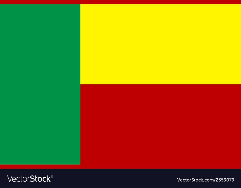 Flag of benin vector | Price: 1 Credit (USD $1)
