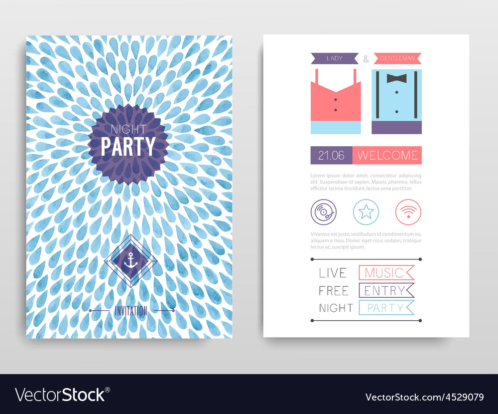 Hipster flyer vector | Price: 1 Credit (USD $1)