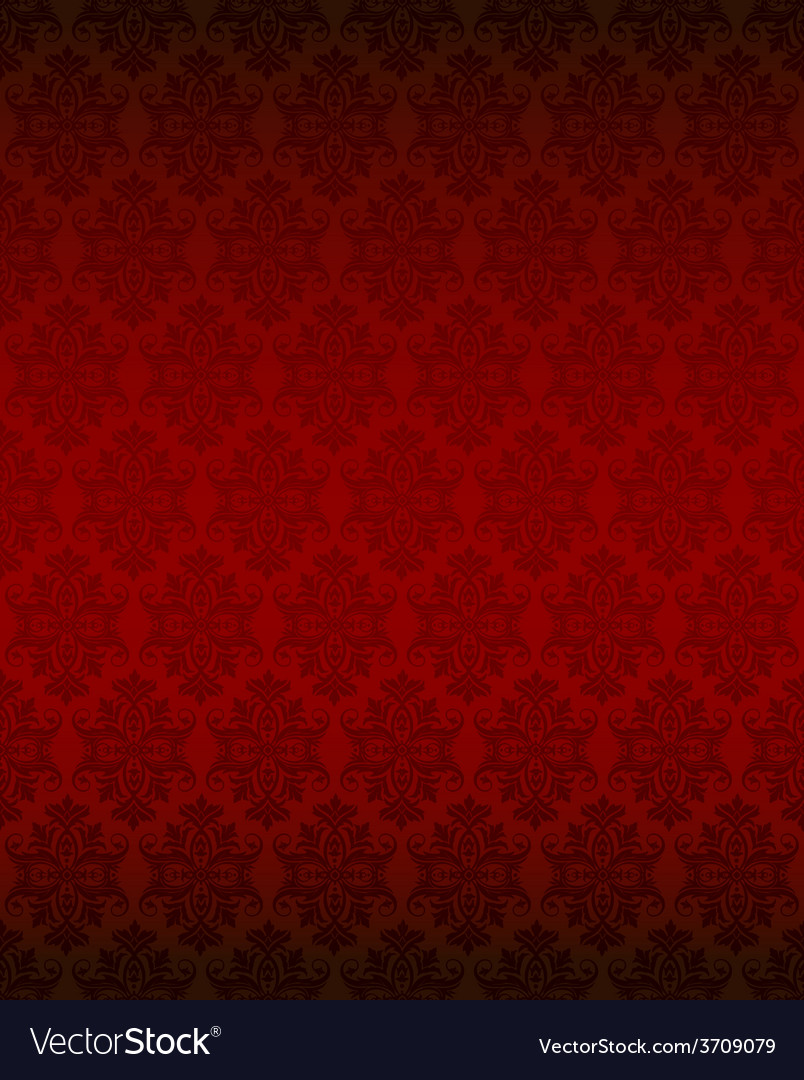 Luxury seamless red floral wallpaper vector | Price: 1 Credit (USD $1)
