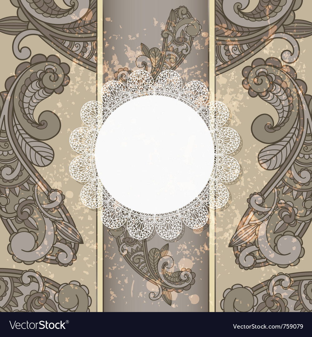 Menu with paisley pattern vector | Price: 1 Credit (USD $1)