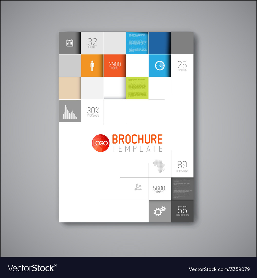 Modern abstract brochure design template vector | Price: 1 Credit (USD $1)