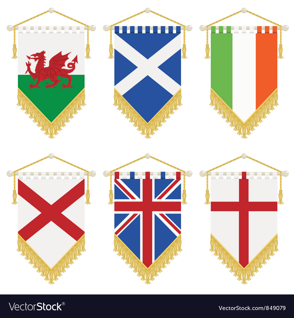 Uk and ireland pennants vector | Price: 1 Credit (USD $1)