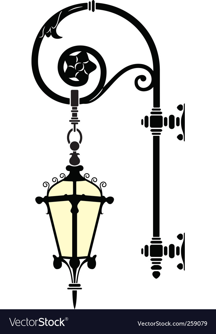 Wall street lamp vector | Price: 1 Credit (USD $1)
