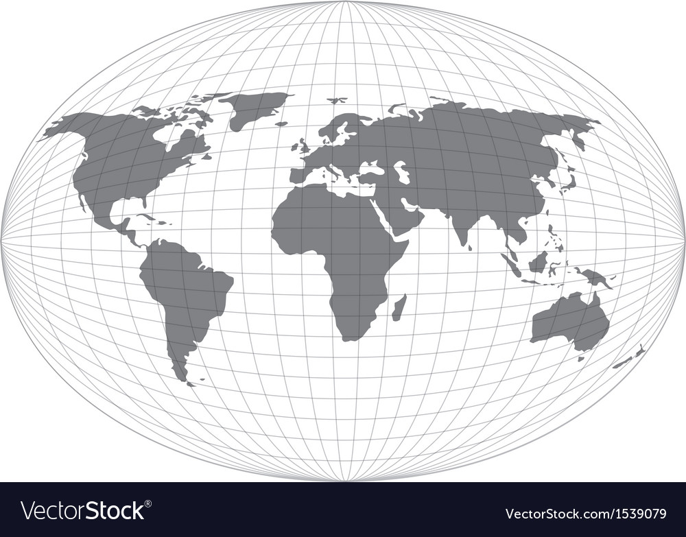 Wire globe map eps10 vector | Price: 1 Credit (USD $1)