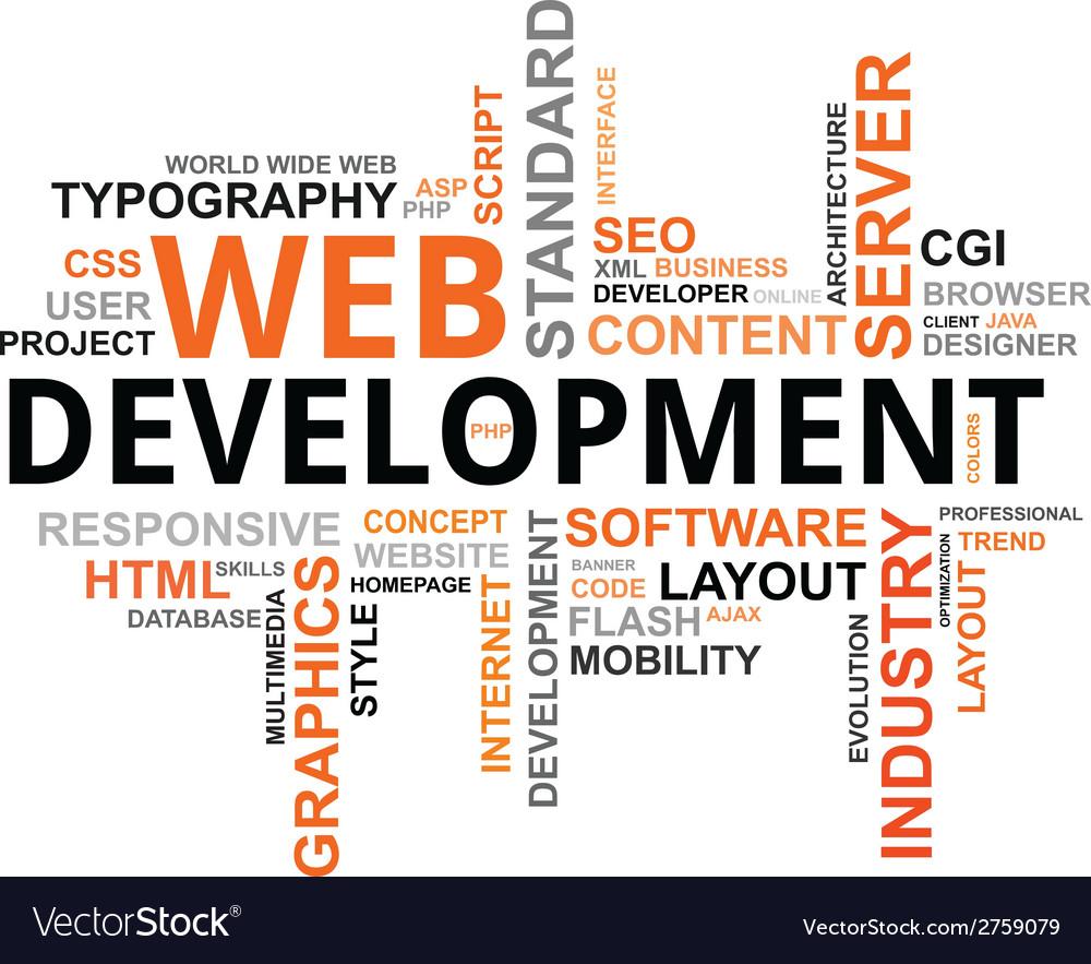 Word cloud web development vector | Price: 1 Credit (USD $1)