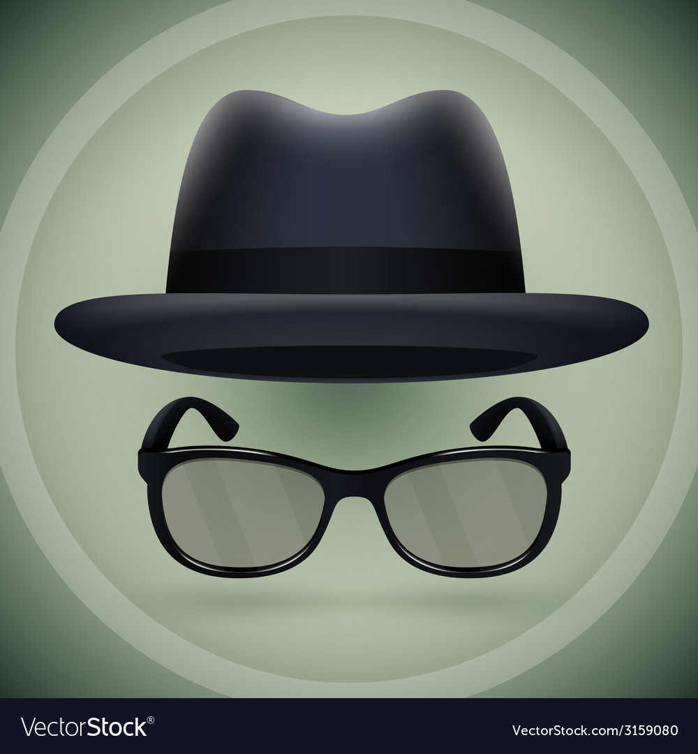 Black fedora and eyeglasses vector | Price: 1 Credit (USD $1)