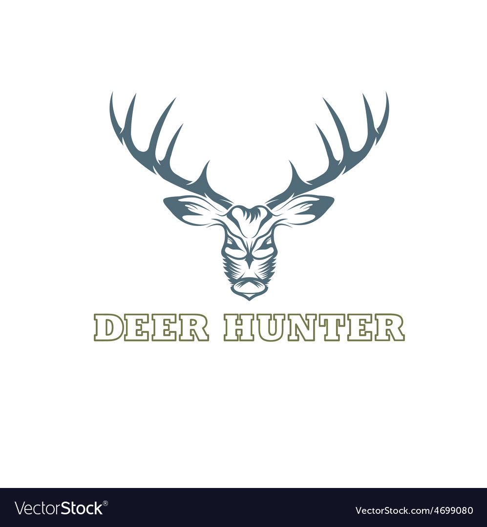Deer hunter design template vector   Price: 1 Credit (USD $1)