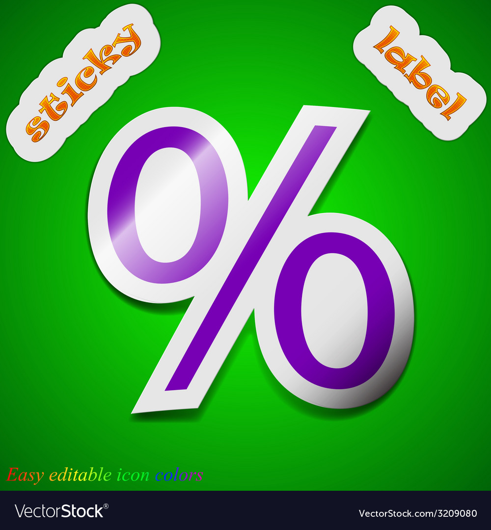 Discount percent icon sign symbol chic colored vector | Price: 1 Credit (USD $1)