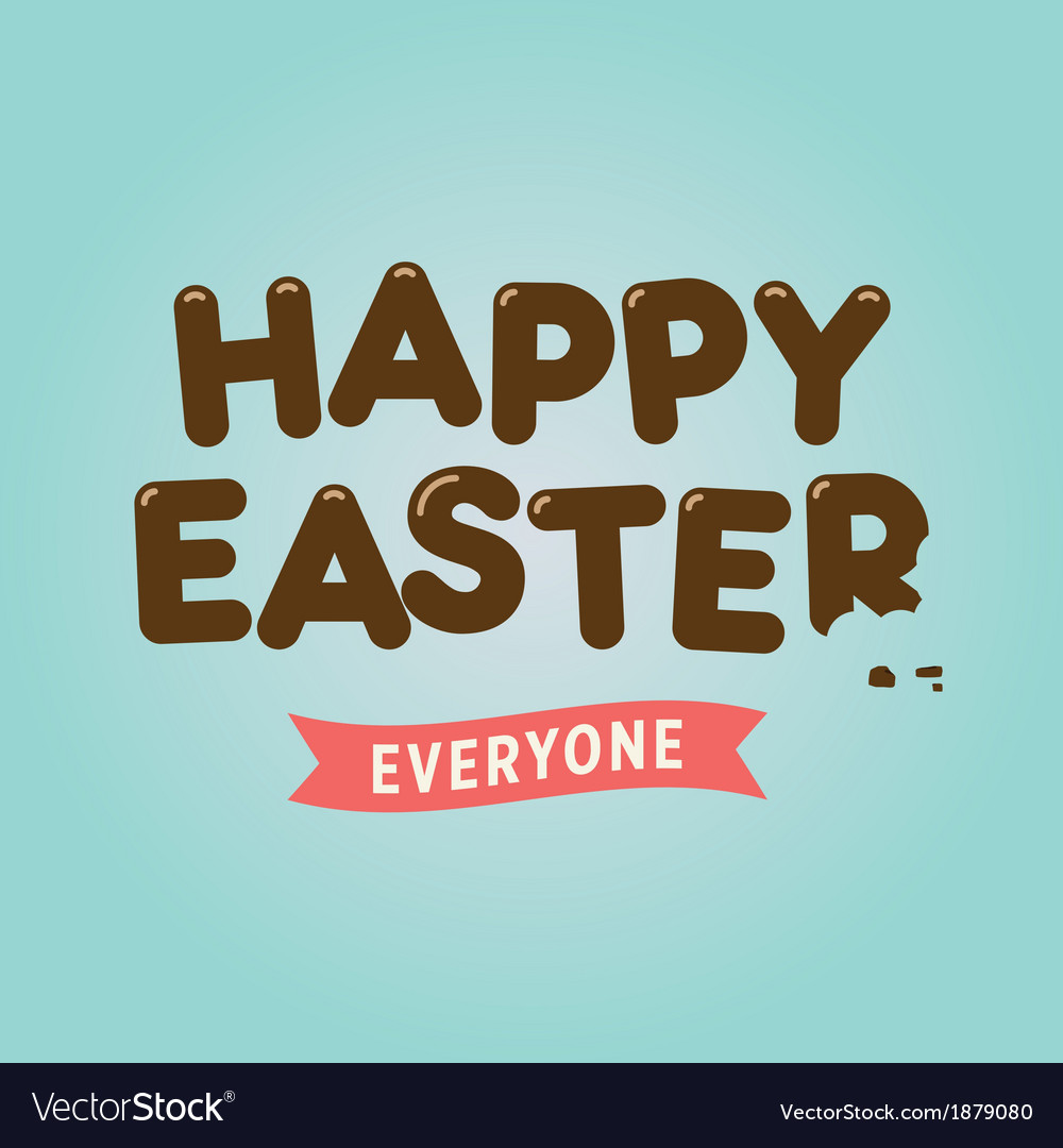 Easter card chocolate letter vector | Price: 1 Credit (USD $1)