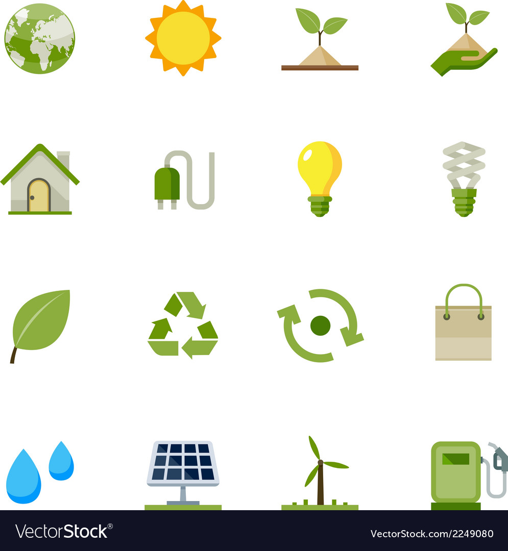 Ecology icons vector | Price: 1 Credit (USD $1)