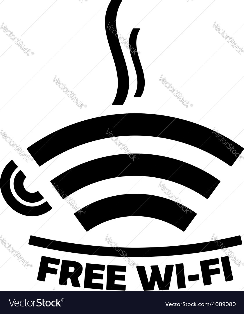 Free wifi cafe icon vector