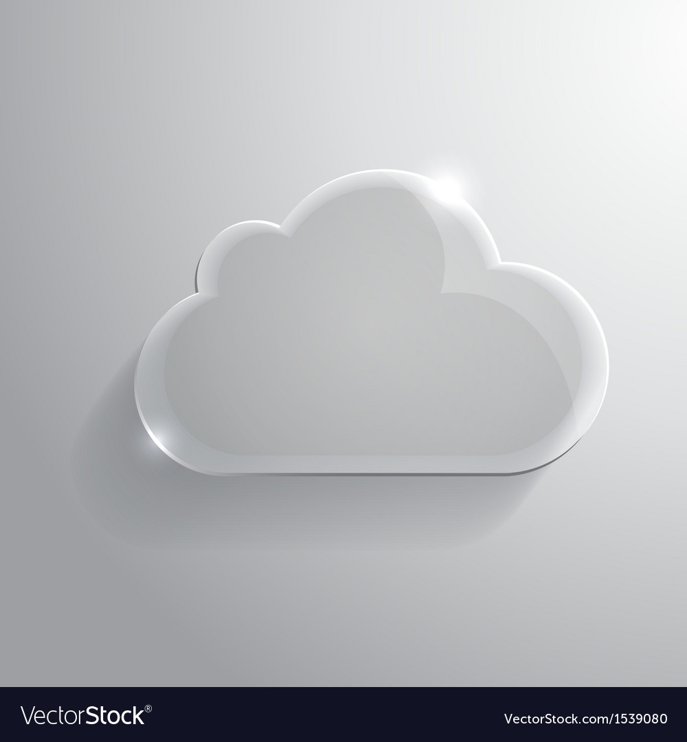Glossy cloud vector | Price: 1 Credit (USD $1)