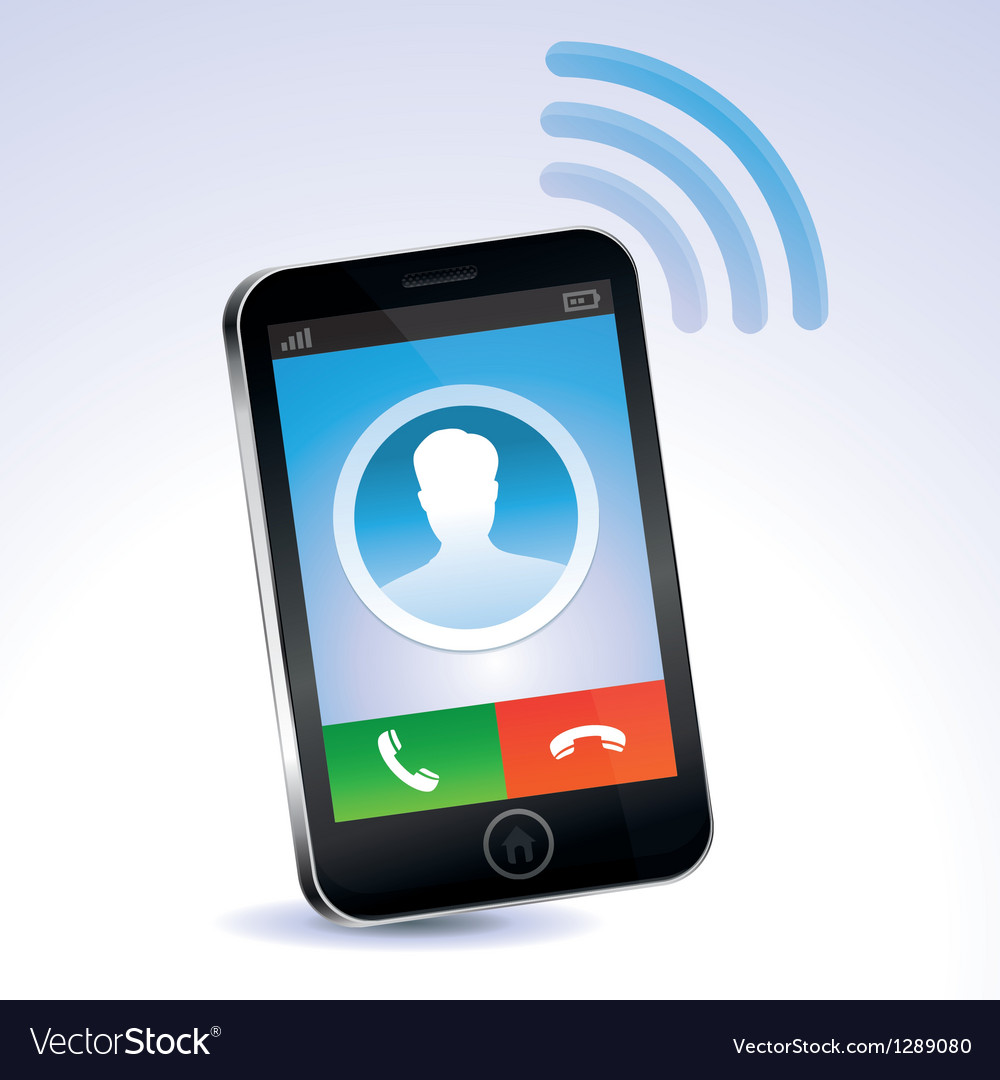 Mobile phone calling vector | Price: 1 Credit (USD $1)