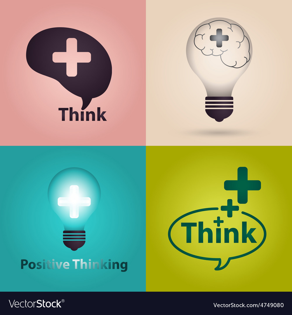 Positive thinking vector | Price: 1 Credit (USD $1)