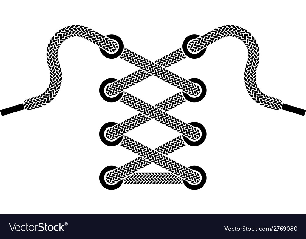 Shoe lace symbol vector | Price: 1 Credit (USD $1)