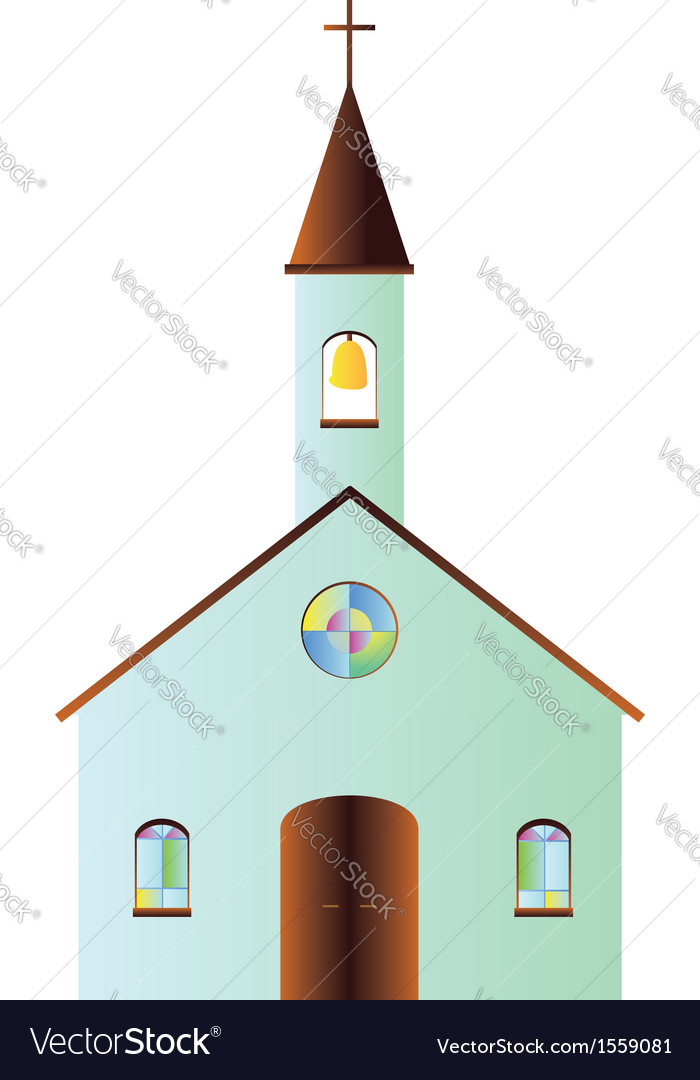 Cartoon church vector | Price: 1 Credit (USD $1)