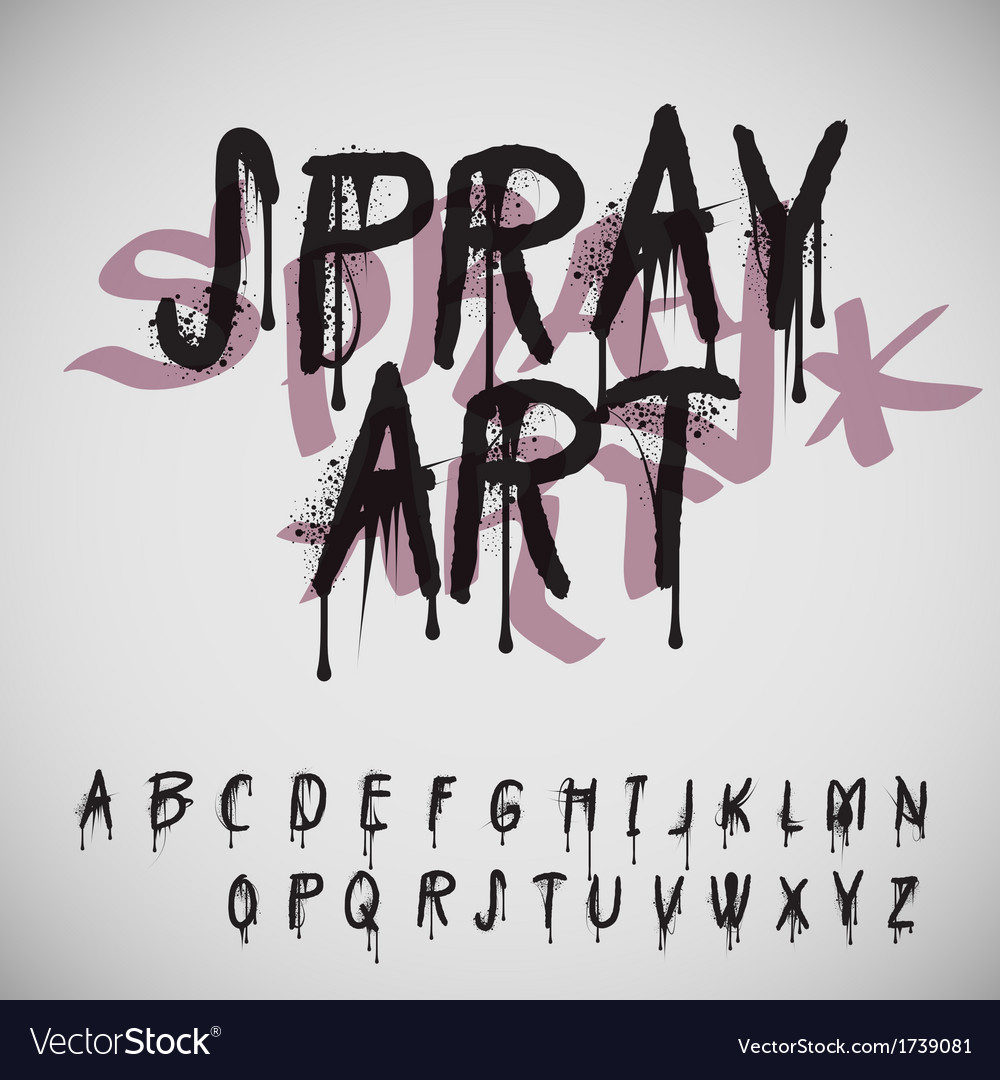 Graffiti splash alphabet vector | Price: 1 Credit (USD $1)