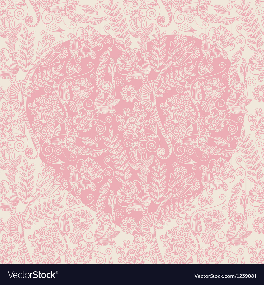 Hand draw ornate heart shape background vector | Price: 1 Credit (USD $1)
