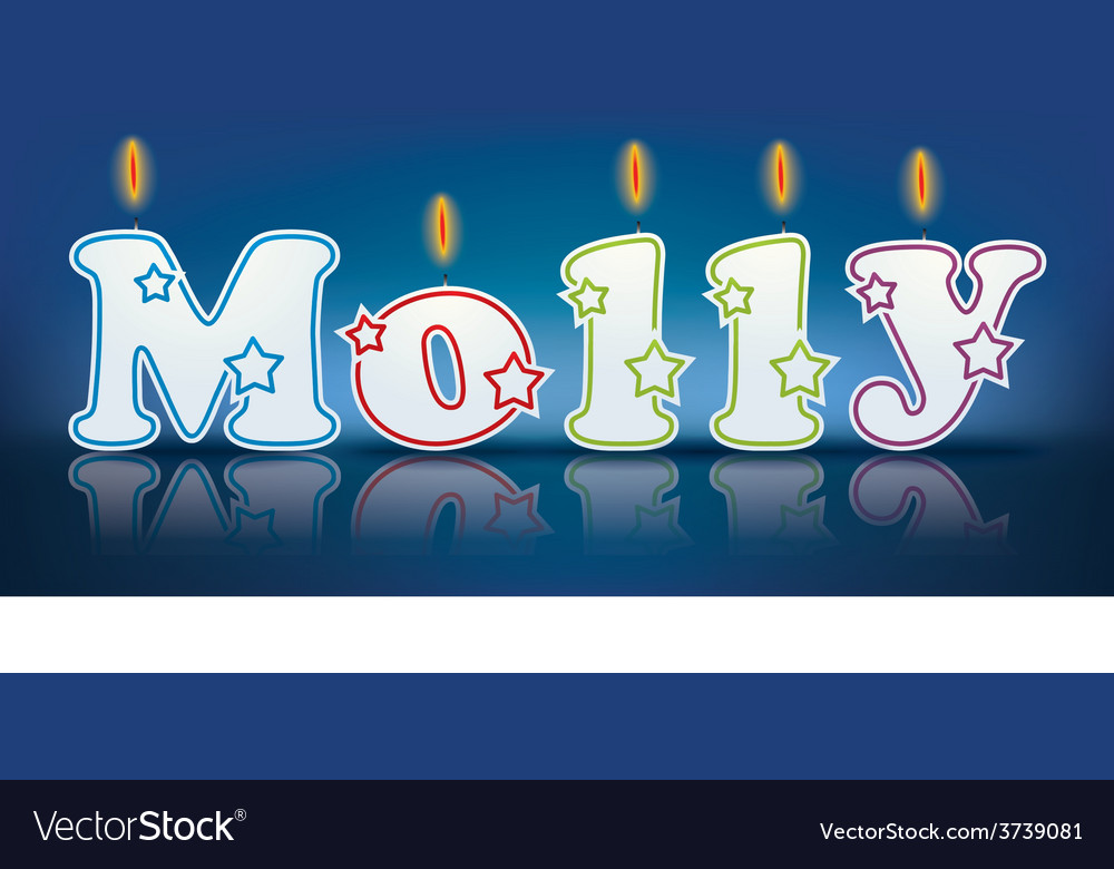 Molly written with burning candles vector | Price: 1 Credit (USD $1)