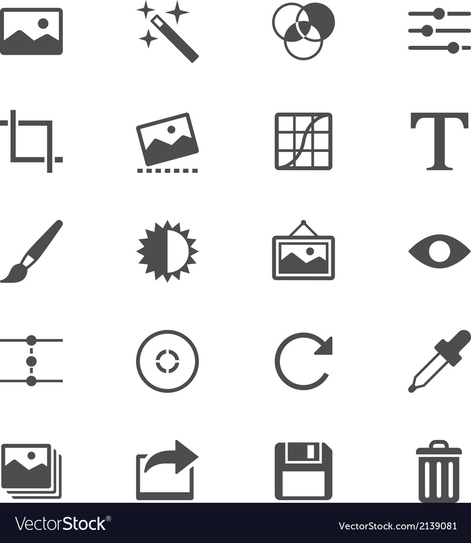Photography flat icons vector | Price: 1 Credit (USD $1)